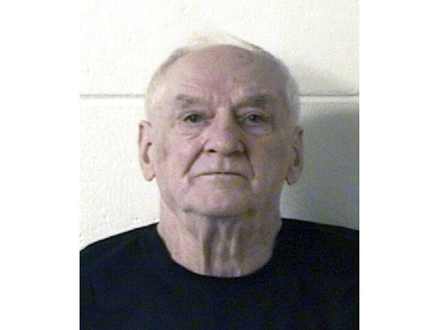 FILE - In this March 22, 2019, file booking photo, provided by the Marinette County Jail is Raymand Vannieuwenhoven. A judge has ruled that the 83-year-old man charged with killing a camping couple in a Wisconsin park in 1976 is not mentally competent to stand trial. During a hearing Thursday, March 26, 2020, in Marinette County court, Judge James Morrison ruled that Vannieuwenhoven didn't understand the proceedings and couldn't assist in his own defense against two counts of first-degree murder. (Marinette County Jail via AP, File)