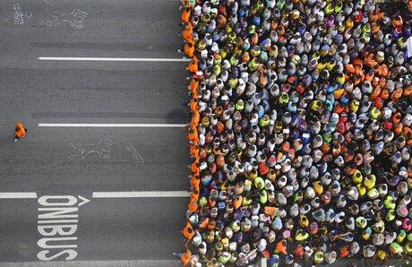 APTOPIX Brazil Sao Silvestre Race