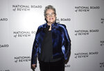Kathy Bates attends the National Board of Review Awards gala at Cipriani 42nd Street on Wednesday, Jan. 8, 2020, in New York. (Photo by Evan Agostini/Invision/AP)