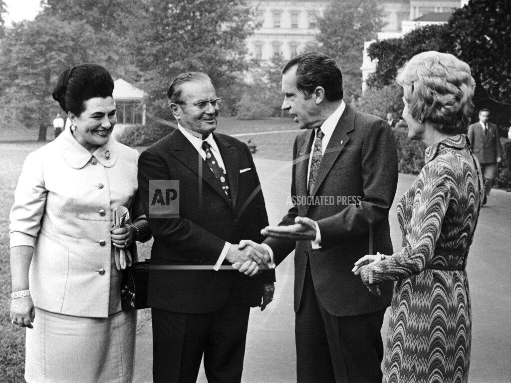 Watchf AP A  DC USA APHSL26032 USA Washington Josip Broz Tito and Richard Nixon