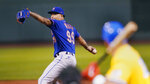 New York Mets starting pitcher Taijuan Walker delivers during the first inning of a baseball game against the Boston Red Sox at Fenway Park, Wednesday, Sept. 22, 2021, in Boston. (AP Photo/Charles Krupa)
