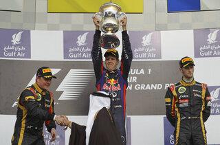 Sebastian Vettel, Kimi Raikkonen, Romain Grosjean