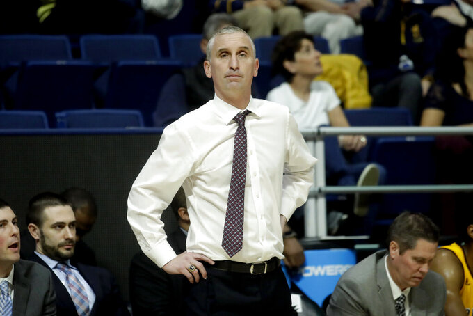 FILE - In this Feb. 16, 2020, file photo, Arizona State head coach Bobby Hurley looks on during an NCAA college basketball game against California in Berkeley, Calif. Hurley recruited like few previous coaches have at Arizona State through his first five seasons in the desert. His latest class, possibly the best in program history, has the Sun Devils in position for a run at a Pac-12 title and a third straight trip to the NCAA Tournament for the first time in 57 years. (AP Photo/Jeff Chiu, File)