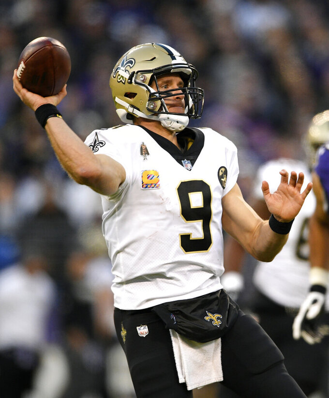New Orleans Saints at Baltimore Ravens 10/21/2018