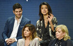 Grace Park, top right, answers a question as fellow cast members in the Disney ABC television series