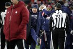 New England Patriots head coach Bill Belichick, center, argues a call in the second half of an NFL football game against the Kansas City Chiefs, Sunday, Dec. 8, 2019, in Foxborough, Mass. (AP Photo/Elise Amendola)