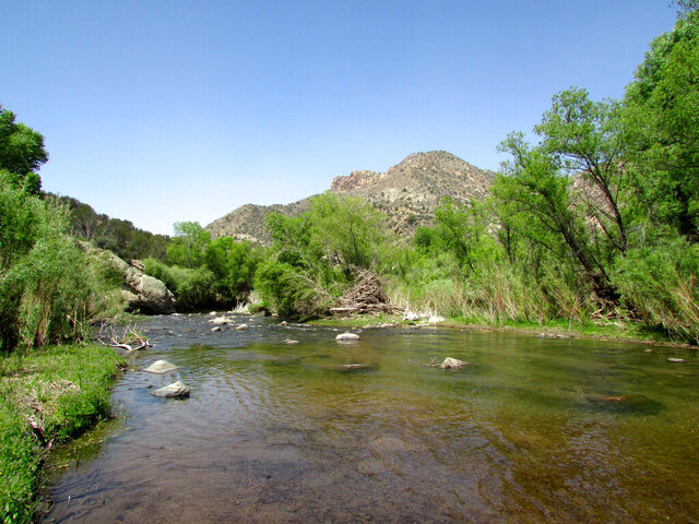 """This undated photo provided by Nathan Newcomer shows the Middle Box of the Gila River west of Silver City, N.M. Portions of the Gila River would be designated as """"wild and scenic"""" under legislation unveiled Tuesday, May 12, 2020, by New Mexico Sens. Tom Udall and Martin Heinrich. (Nathan Newcomer via AP)"""