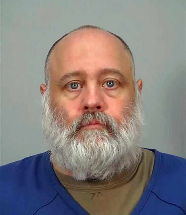 This 2016 booking photo provided by the Dane County Sheriff's Department shows David Kahl. Kahl was charged Friday, March 20, 2020, in the 2008 killing of a University of Wisconsin-Madison student who was found strangled and stabbed in her downtown apartment.  Madison police said Kahl was charged with first-degree intentional homicide — 12 years after 21-year-old Brittany Zimmermann was killed. Kahl is in custody on unrelated charges. (Dane County Sheriff's Department via AP)