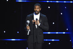 Michael B. Jordan wins the award for outstanding actor in a motion picture for