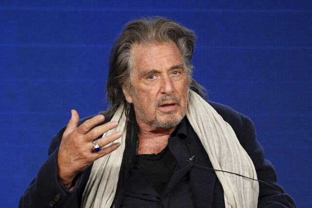 FILE - In this Jan. 14, 2020, file photo, Al Pacino speaks at the