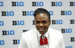 Maryland running back Anthony McFarland Jr., smiles as he answers a question during the Big Ten Conference NCAA college football media days Thursday, July 18, 2019, in Chicago. (AP Photo/Charles Rex Arbogast)