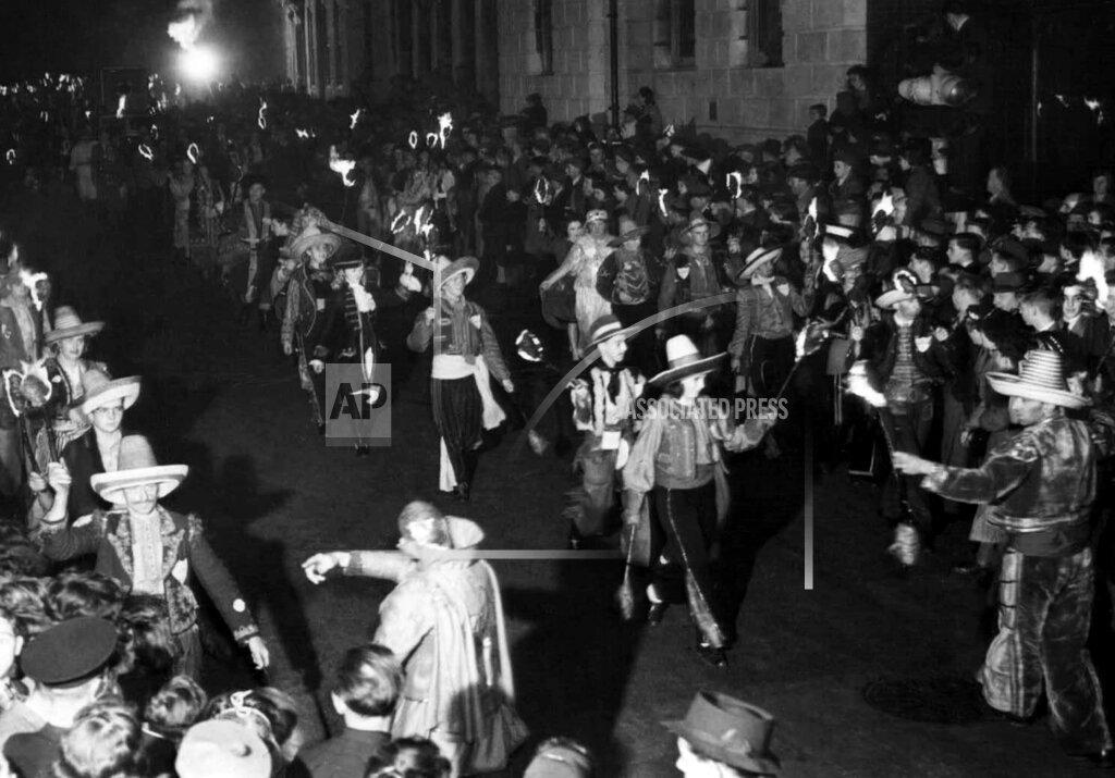 Watchf Associated Press International News   England United Kingdom APHS114312 Guy Fawkes Night 1945