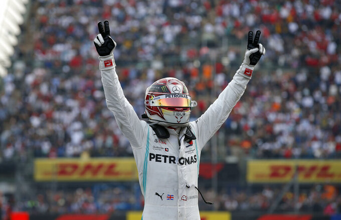 Hamilton beats Ferrari front row to Mexico City win