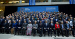 International Monetary Fund IMF Governors poses for a group photo during the World Bank/IMF Spring Meetings in Washington, Saturday, April 13, 2019. (AP Photo/Jose Luis Magana)