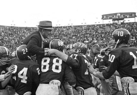 Bear Bryant, Paul Bryant, John Mosley, Ray Perkins, Jerry Duncan, Wayne Trimble.