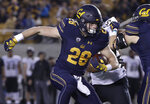 California running back Patrick Laird (28) runs against Colorado during the first half of an NCAA college football game in Berkeley, Calif., Saturday, Nov. 24, 2018. (AP Photo/Jeff Chiu)