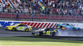 Ryan Blaney, Jimmie Johnson, Martin Truex Jr