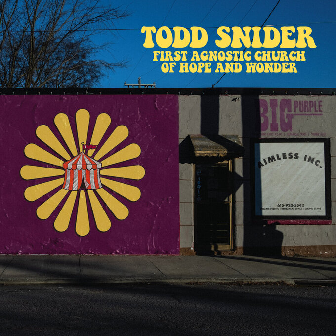 """This image released by Aimless Records/Thirty Tigers shows """"First Agnostic Church of Hope and Wonder"""" by Todd Snider. (Aimless Records/Thirty Tigers via AP)"""