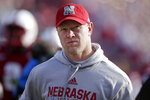 Nebraska head coach Scott Frost walks off the field following an NCAA college football game against Wisconsin in Lincoln, Neb., Saturday, Nov. 16, 2019. Wisconsin won 37-21. (AP Photo/Nati Harnik)