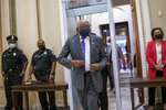 House Majority Whip James Clyburn, D-S.C., leaves the chamber during debate on a bill to avert a government shutdown and suspend the debt limit, at the Capitol in Washington, Tuesday evening, Sept. 21, 2021. (AP Photo/J. Scott Applewhite)