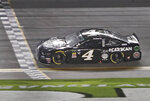 Kevin Harvick crosses the finish line to win the first of two qualifying auto races for the NASCAR Daytona 500 at Daytona International Speedway, Thursday, Feb. 14, 2019, in Daytona Beach, Fla. (AP Photo/John Raoux)