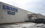 Kroger off of Phelan is closed after flooding affected the store, Friday, Sept, 20, 2019, in Beaumont, Texas. The heaviest rainfall had ended by Thursday night in Southeast Texas, but forecasters warned that parts of northeast Texas, Arkansas, Oklahoma and Louisiana could see flash flooding as Imelda's remnants shifted to the north. (Ryan Welch/The Beaumont Enterprise via AP)