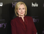 FILE - Former secretary of state Hillary Clinton attends the premiere of the Hulu documentary