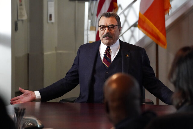 This image released by CBS shows Tom Selleck in a scene from