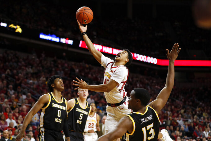 Balanced Iowa State cruises past Southern Miss 73-45