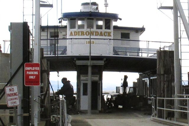 In this Wednesday March 4, 2020, photo, the Lake Champlain ferry