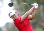 Nasa Hataoka, of Japan, drives from the 2nd tee during during the final round of the Tournament of Champions LPGA golf tournament Sunday, Jan. 19, 2020, in Lake Buena Vista, Fla. (AP Photo/Gary McCullough)