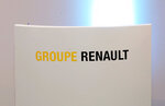 FILE - This Oct.6, 2017 file photo shows the logo of Renault Group outside Paris. France's Renault saw its sales and earnings drop last year and says 2020 will be tough due to the need for investment in new technologies at a time when the market is shrinking. (AP Photo/Michel Euler, File)