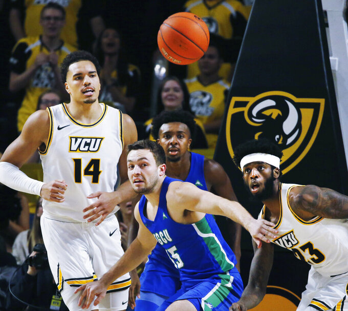 Evans, No. 21 VCU roll over Florida Gulf Coast 78-48