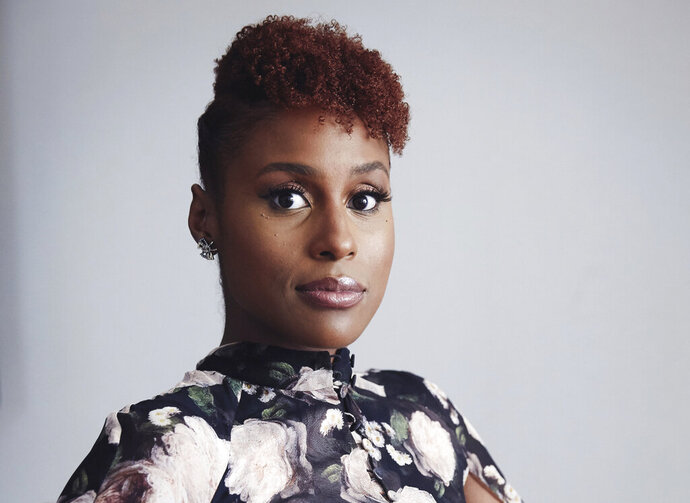 FILE - Issa Rae poses for a portrait in New York on Aug. 8, 2018. The