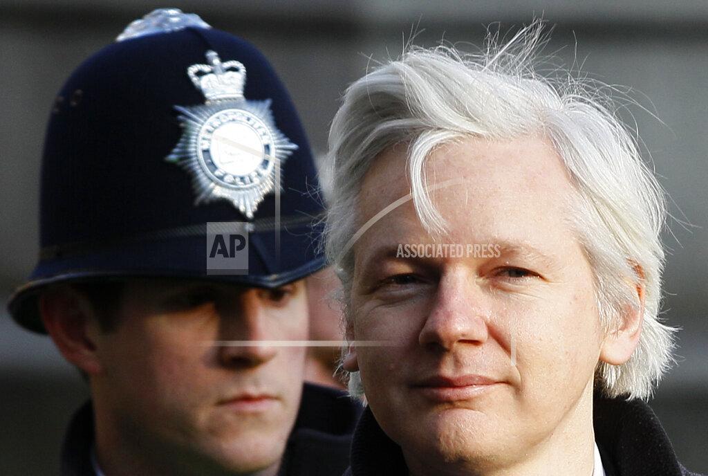 APTOPIX Britain WikiLeaks