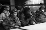 This image released by Netflix shows Radha Blank, left, and Oswin Benjamin in a scene from
