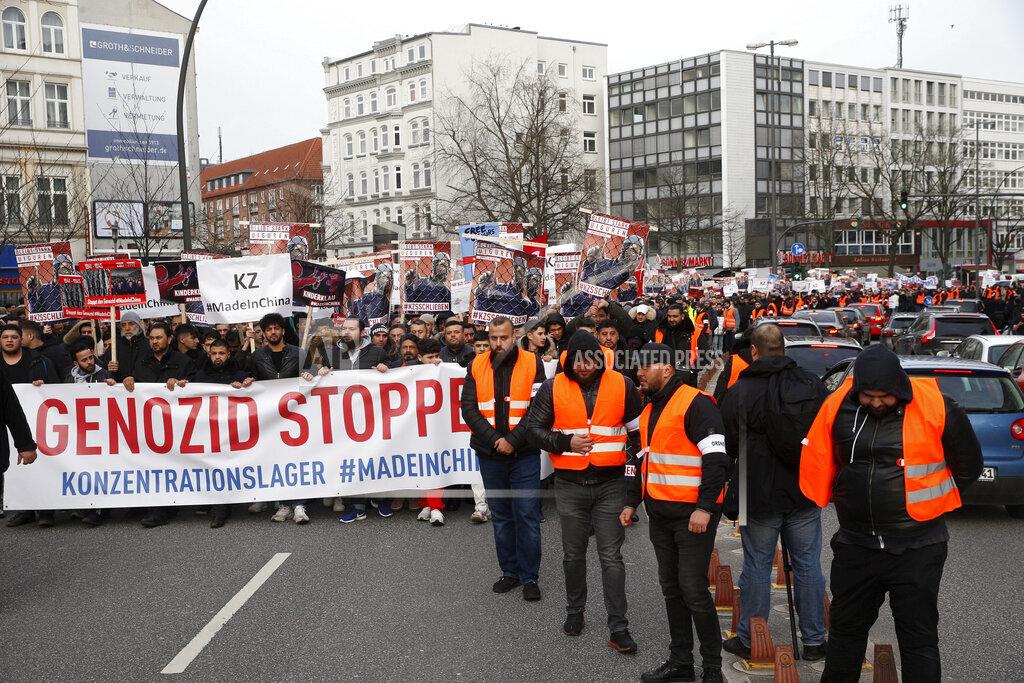 Demonstration against oppression of the Uighurs