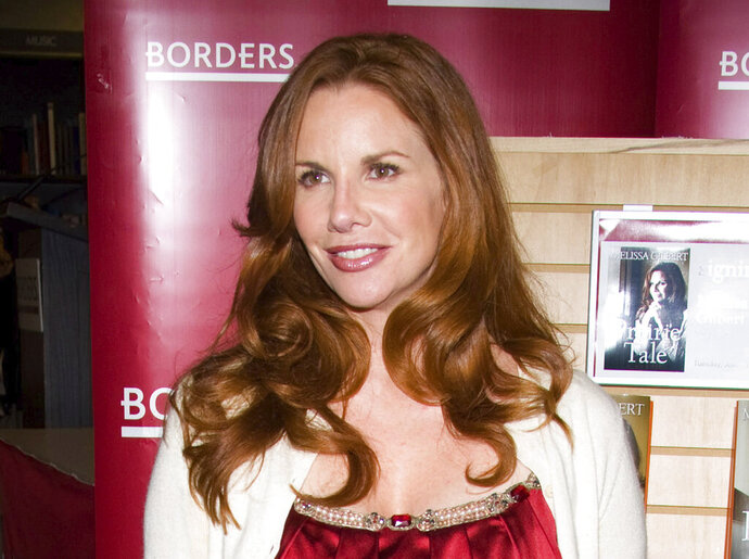 FILE - Actress Melissa Gilbert appears at Borders Books to promote her autobiography