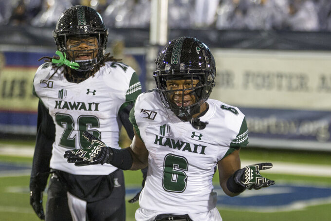Hawaii has chance to make noise facing No. 14 Boise State