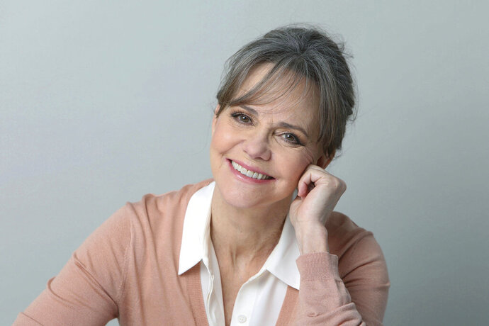 FILE - In this March 3, 2017 file photo, actress Sally Field poses for a portrait in New York. Iconic actress Sally Field and foundational children's show Sesame Street top this year's class of Kennedy Center Honors recipients. Other chosen to receive the award for lifetime achievement in the arts include singer Linda Ronstadt, conductor Michael Tilson Thomas and the R&B group Earth, Wind and Fire.(Photo by Amy Sussman/Invision/AP)