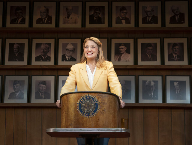 This image released by Amazon Studios shows Heidi Schreck in a scene from
