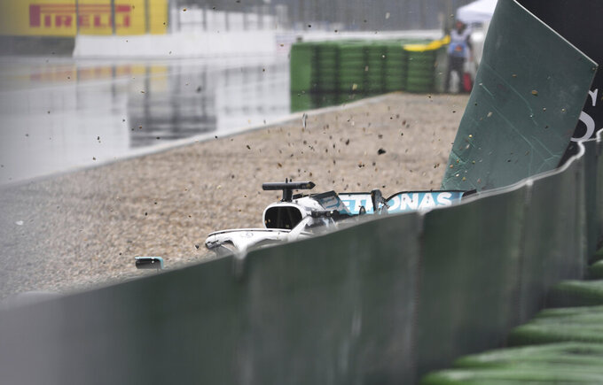 Rare sight in F1 as both Mercedes struggle at German GP