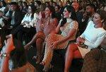 Huda Kattan, third from left, and Mona Kattan, second from right, take part at the Huda Boss on Facebook Watch screening celebration in Dubai, United Arab Emirates, Wednesday, Oct. 9, 2019. (AP Photo/Kamran Jebreili)