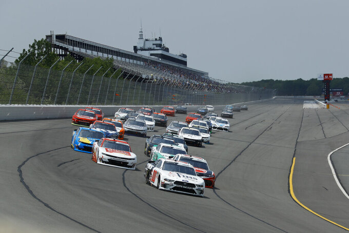 Cole Custer in action during the NASCAR Xfinity Series auto race at Pocono Raceway, Saturday, June 1, 2019, in Long Pond, Pa. (AP Photo/Matt Slocum)