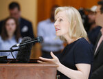 Presidential candidate Sen. Kirsten Gillibrand, D-N.Y., speaks during a news conference at the Georgia State Capitol in Atlanta on Thursday, May 16, 2019 to discuss abortion bans in Georgia and across the country. Georgia was the fourth state this year to pass anti-abortion