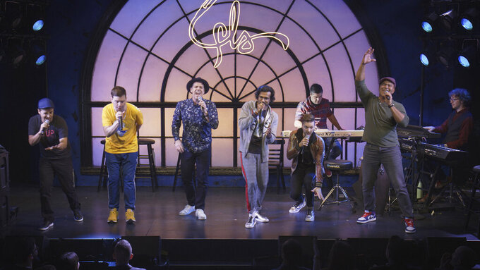 """This image released by Hulu shows a scene from """"We Are Freestyle Love Supreme."""" The American Theatre Wing and the Broadway League announced Tuesday that """"We Are Freestyle Love Supreme"""" will receive a Special Tony Award, (Hulu via AP)"""