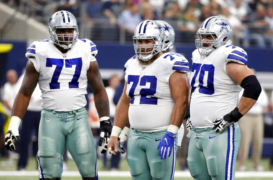 Travis Frederick, Zack Martin, Tyron Smith