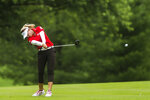 Brooke Henderson of Canada plays in the second round of the Dow Great Lakes Bay Invitational golf tournament on Thursday, July 18, 2019 at Midland Country Club in Midland, Mich. (Katy Kildee/Midland Daily News via AP)