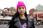 "Teresa Ting stands for a portrait, Wednesday, March 31, 2021, in the Flushing neighborhood of the Queens borough of New York. The vicious assault of a 65-year-old woman while walking to church this week near New York City's Times Square has heightened already palpable levels of outrage over anti-Asian attacks that started with the pandemic. Ting, a 29-year-old Chinese American, started what has become the Main Street Patrol following an attack on another older Asian American woman in February. ""It literally could have been my mother had it been the wrong place, wrong time,"" Ting said of that attack. (AP Photo/John Minchillo)"