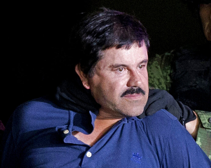 FILE - In this Jan. 8, 2016 file photo, drug lord Joaquin